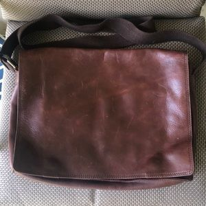 47 Maple Leather Brief Bag